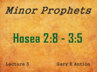 Listen to Minor Prophets - Lecture 3 - Hosea 2:8 - 3:5