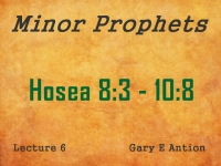 Listen to Minor Prophets - Lecture 6 - Hosea 8:3 - 10:8
