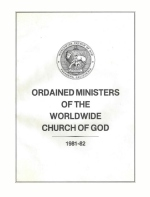 Ordained Ministers of the Worldwide Church of God 1981-1982